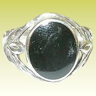 Vintage Sterling & Black Onyx Ring