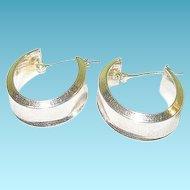 Vintage Sterling Hoop Earring