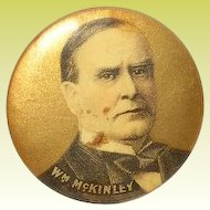 Vintage Wm McKinley Campaign Button 1896