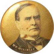 Vintage Wm McKinley Campaign Button 1896