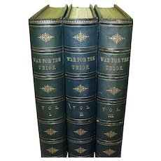 Antique Books:  War for the Union in 3 Vols. by Evert A. Duyckinck 1861
