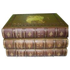 "Antique 3 Vol. Set ""Battles of America"" By Robert Tomes M.D. 1861"