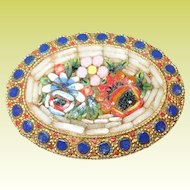 Vintage Micro Mosaic Brooch Italy