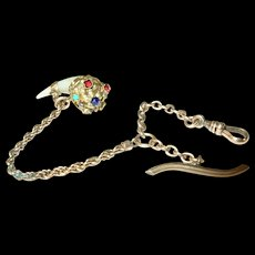 Victorian Gold Filled Watch Chain with Fob