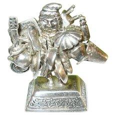 Vintage Sterling Miniature Sculpture Peruvian Peddler