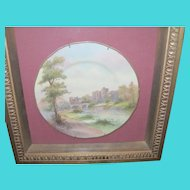 """Vintage Royal Worcester Plate """"Alnurch Castle"""" in Shadow Box"""