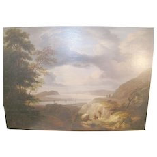 Antique Hudson River School Painting on Board