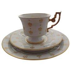 Heinrich - H & Co. Bavaria Germany  Porcelain Cup, Saucer & Underplate