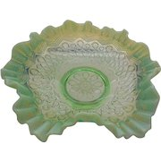 Jefferson Green Opalescent Glass Many Loops #247