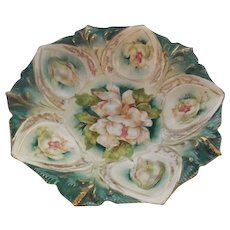 RS Prussia 4 Footed Floral Bowl Mold 78-Magnolia Blossom Flowers