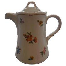 German Bauscher-Welden Porcelain Floral Coffee Pot