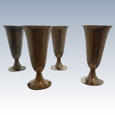4 Tiffany & Co. Sterling Silver Cordial Cups-Marked