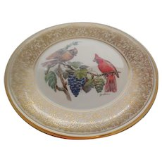 Lenox Cardinal Porcelain Plate by Edward Marshall Boehm with Box