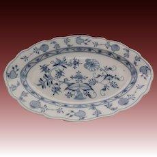 """Johnson Bros. 1920's Holland Blue Meissen Flow Blue Onion Turkey Platter 15.5"""" x 10"""" x 1.75"""""""