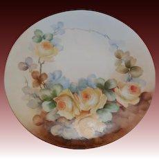 Limoges France JPL(Jean Pouyant)  Floral  Porcelain  Plate 9 inches
