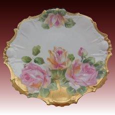 "LDBC Limoges Porcelain Floral Plate 8.75"""