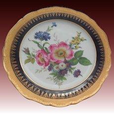 Multi-Floral Porcelain Limoges France Plate 9.75 inches