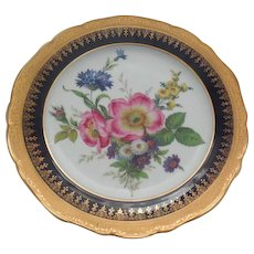 Multi-Floral Porcelain Limoges France Plate 9.75 inches