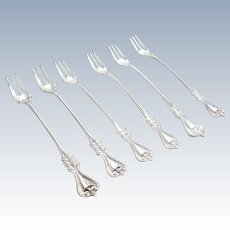 "6   Towle ""Old Colonial"" Sterling Silver Cocktail Forks"