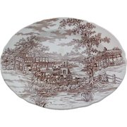 "1975 Franciscan ""Coaching Days"" Transferware Platter - 12 inches"