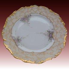 T & V (Tressemann & Vogt) Hand Painted Porcelain Limoges France Plate