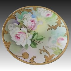 O & G Royal Austria Porcelain Hand Painted Plate