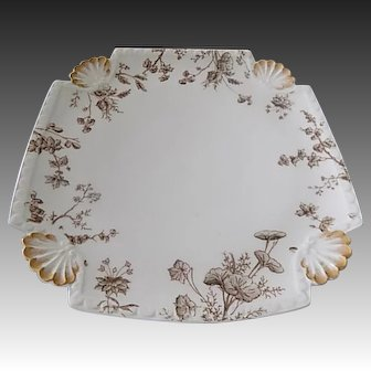 T & V Limoges, French China 9 inch plate