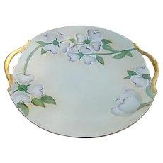 T & V 1913 Limoges Porcelain Cake Plate