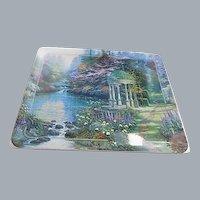 """Thomas Kinkade """"The Garden of Prayer"""" Ceramic Plate"""