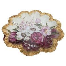 Limoges France  8.25 inch Floral Porcelain Plate
