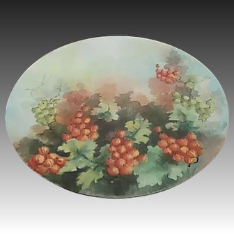 JPL Jean Pouyant Limoges France Hand Painted 8.5 inch Porcelain Plate
