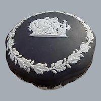 Wedgwood Jasperware Black Basalt Prometheus Round Box