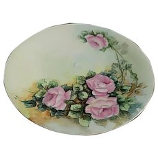 T & V Limoges France 8.5 inches Floral Plate