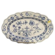 Johnson Bros. Holland Blue Meissen Flow Blue Onion Large Transfer Platter