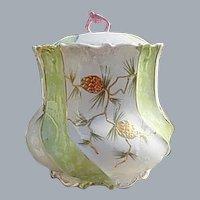 Schlegelmilch 1900's Porceloain Cracker Jar