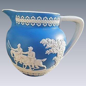 English signed Wedgwood Jasperware Milk Pitcher Royal Blue
