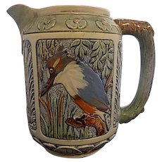 Rare Weller Large Zona Rustic Kingfisher in Tree Pitcher
