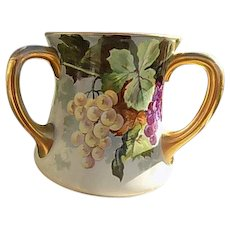 WG Guerin French Limoges  Porceolain Loving Cup
