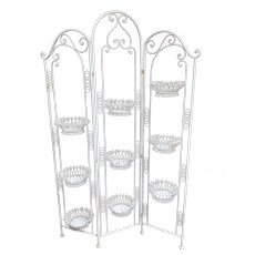 Mid-Century Wrought Iron Planter Room Divider