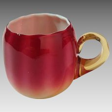 Plated Amberina Punch Cup by New England Glass Works