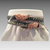 1920's French Garter Pair with Original Tag