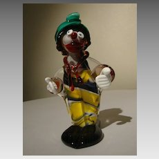 Murano Glass Clown by ICET of Venezuela