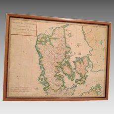 18th C. Map, Royaume De Danemarck, Deuxieme Carte
