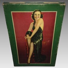 1930's MunsingWear Pin-Up Image by DeVorss Stocking Box