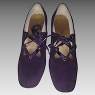 1960's Evins for Neiman Marcus Mod Lace-Up Heels