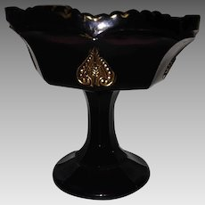 Northwood's Leaf Medallion / The Regent Amethyst Jelly Compote