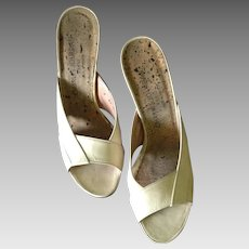 1980s Charles Jourdan High Heel Slides