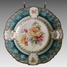 RS Tillowitz Open Handled Floral Cake Plate