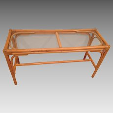 Palm Beach Regency Rattan Console Table