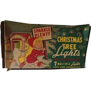 Early 1950's Sparkle Plenty Christmas Tree Lights